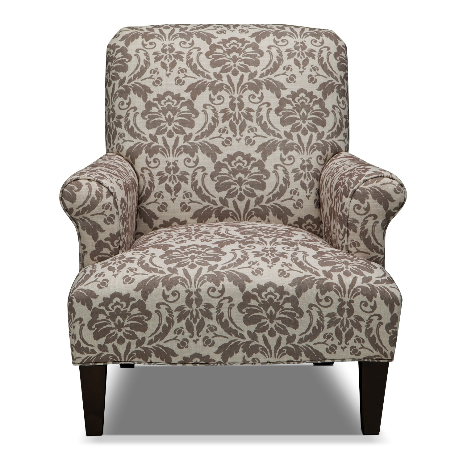 Candice Accent Chair  Gray and Cream  American Signature