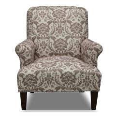 Accent Chair Gray Grey Leather Recliner Candice And Cream American Signature