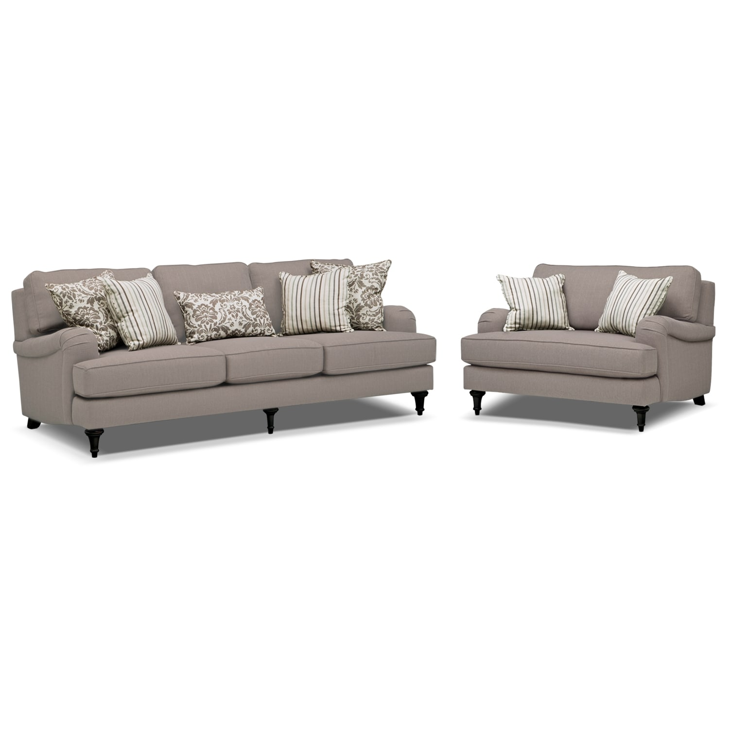 sofa and chairs green bungee chair candice a half set gray american
