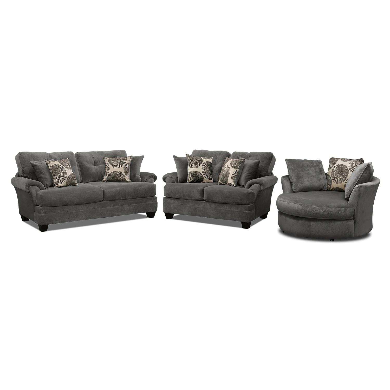 swivel chair sofa set walmart kids cordelle loveseat and american signature