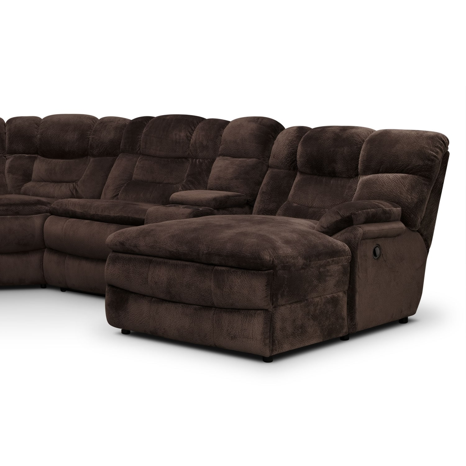 back of sofa facing fireplace leather repair london big softie 6 piece power reclining sectional with right