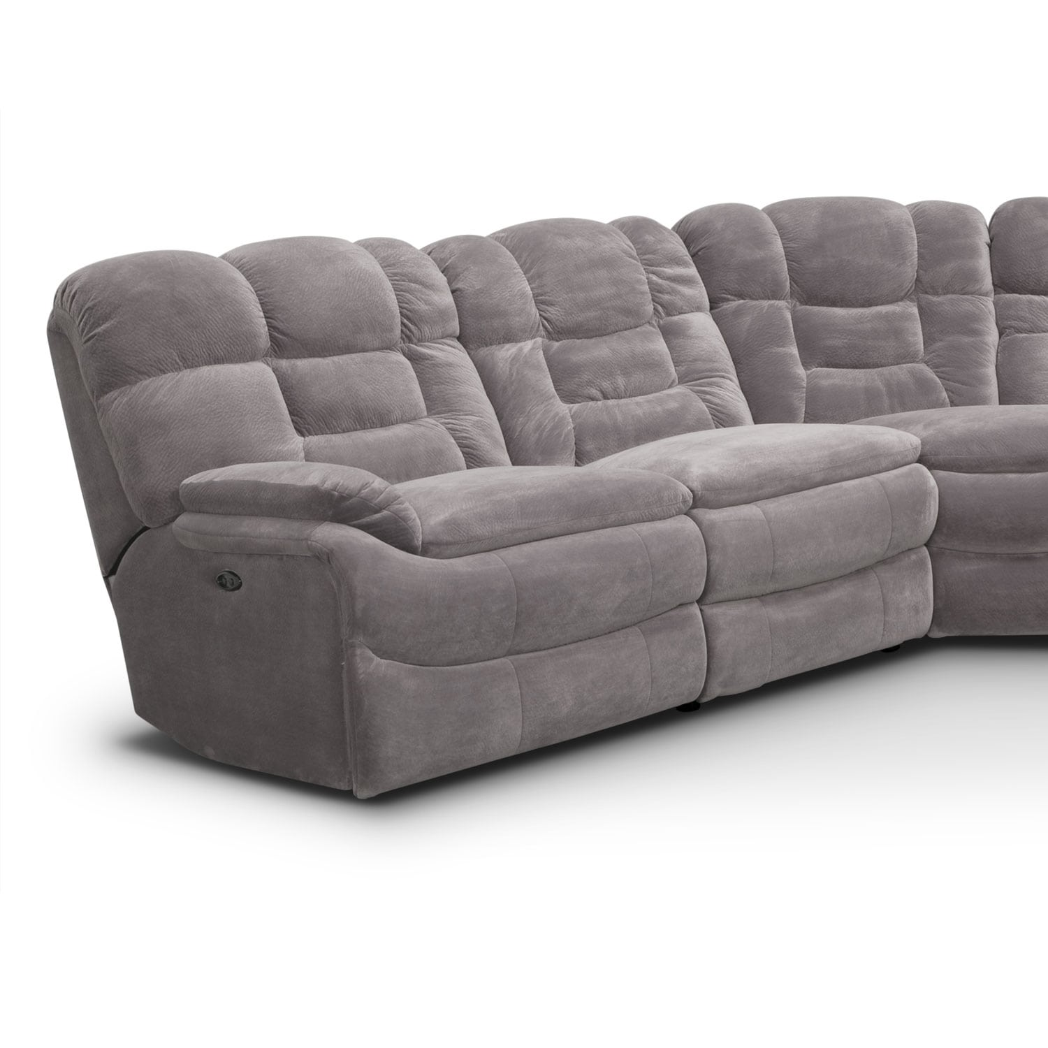 where to donate sectional sofa goetz knock off big softie 6 piece power reclining with right