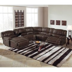 3 Piece Leather Sectional Sofa With Chaise In Living Room Picture St. Malo 6-piece Power Reclining Left ...