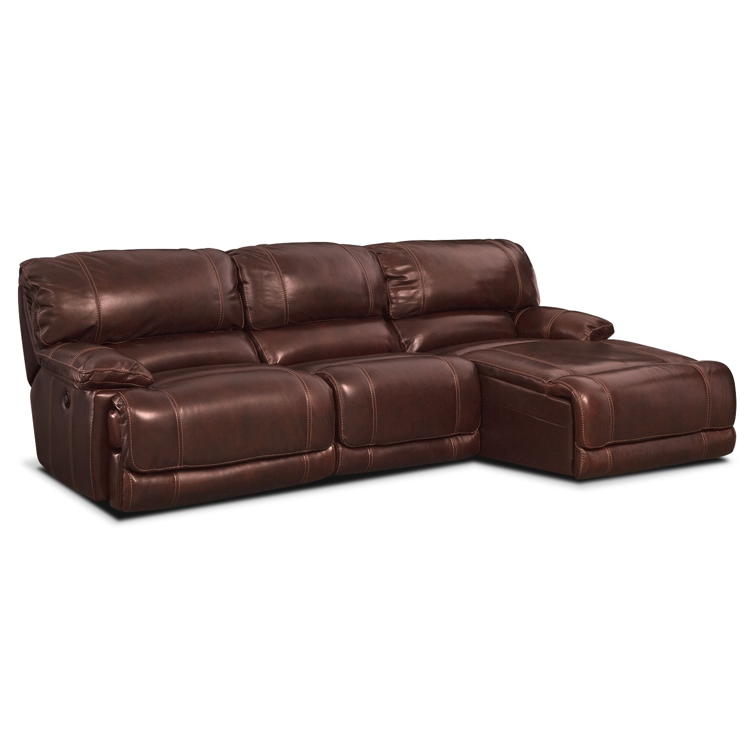 3 pc sectional sofa with recliners sure fit damask cover st malo piece power reclining right
