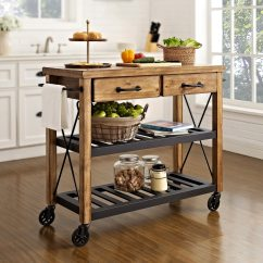 Kitchen Cart Table Sink Drain Fremont Natural American Signature Furniture Click To Change Image