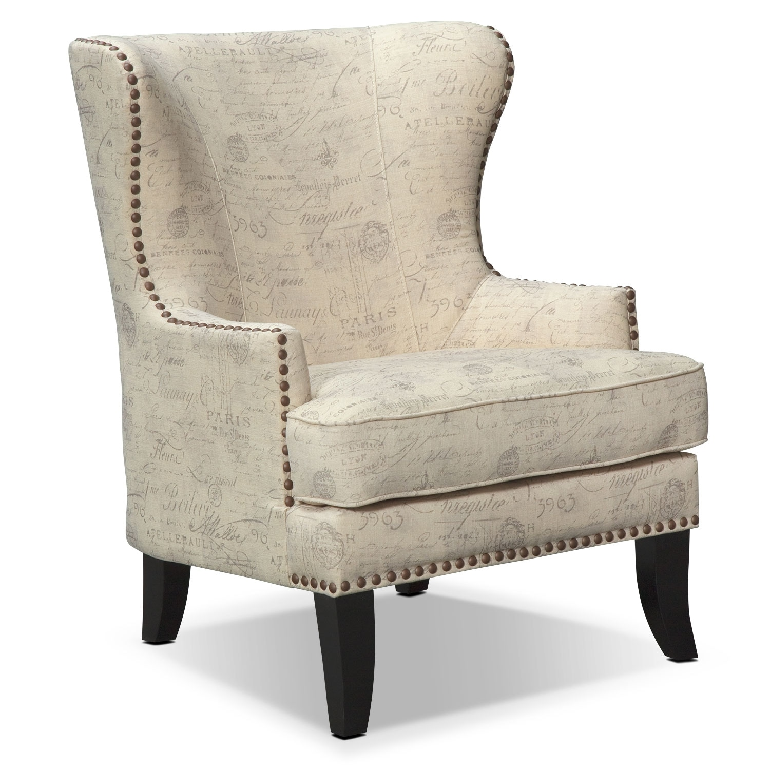 Accent Chair Living Room Marseille Accent Chair Cream And Black