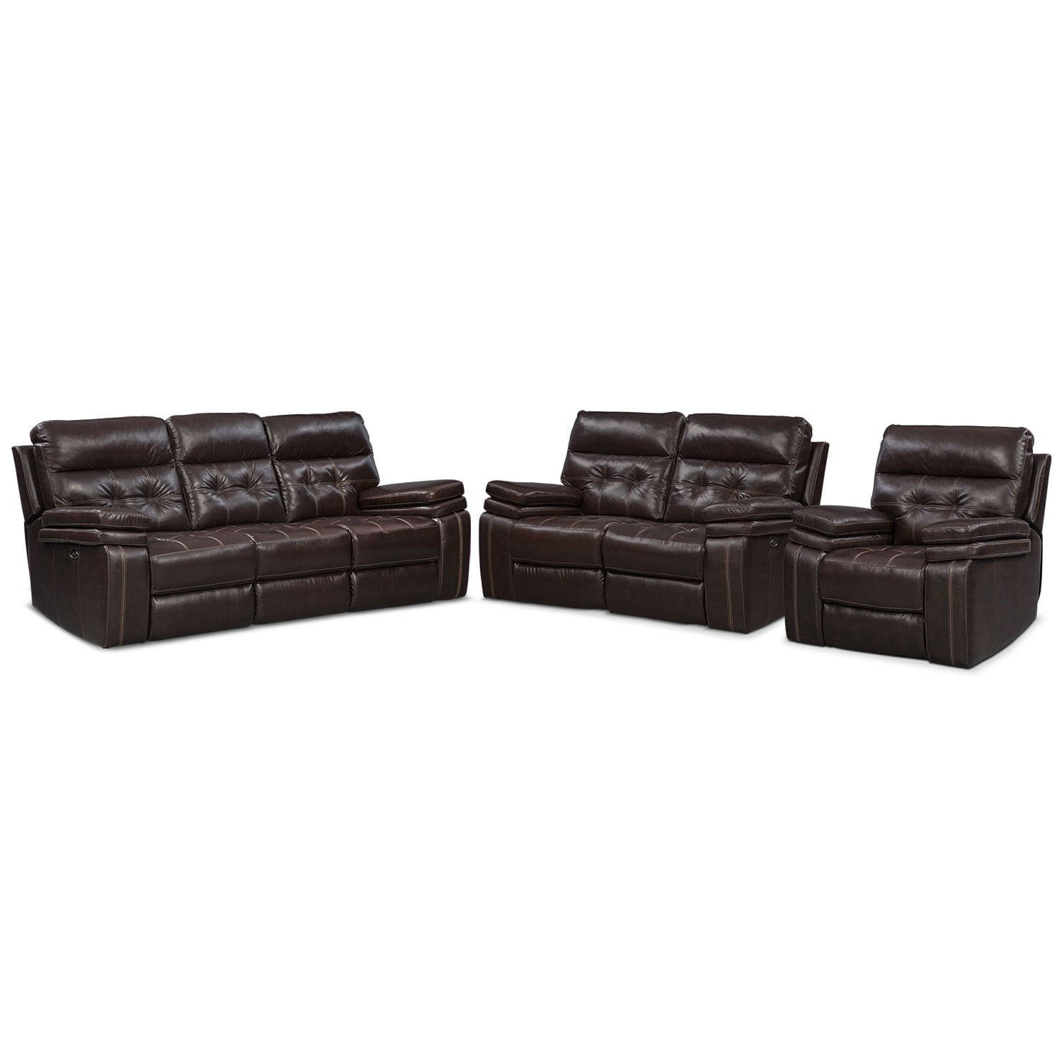 marlow reclining sofa loveseat and chair set used bed for sale in kuwait brisco power glider