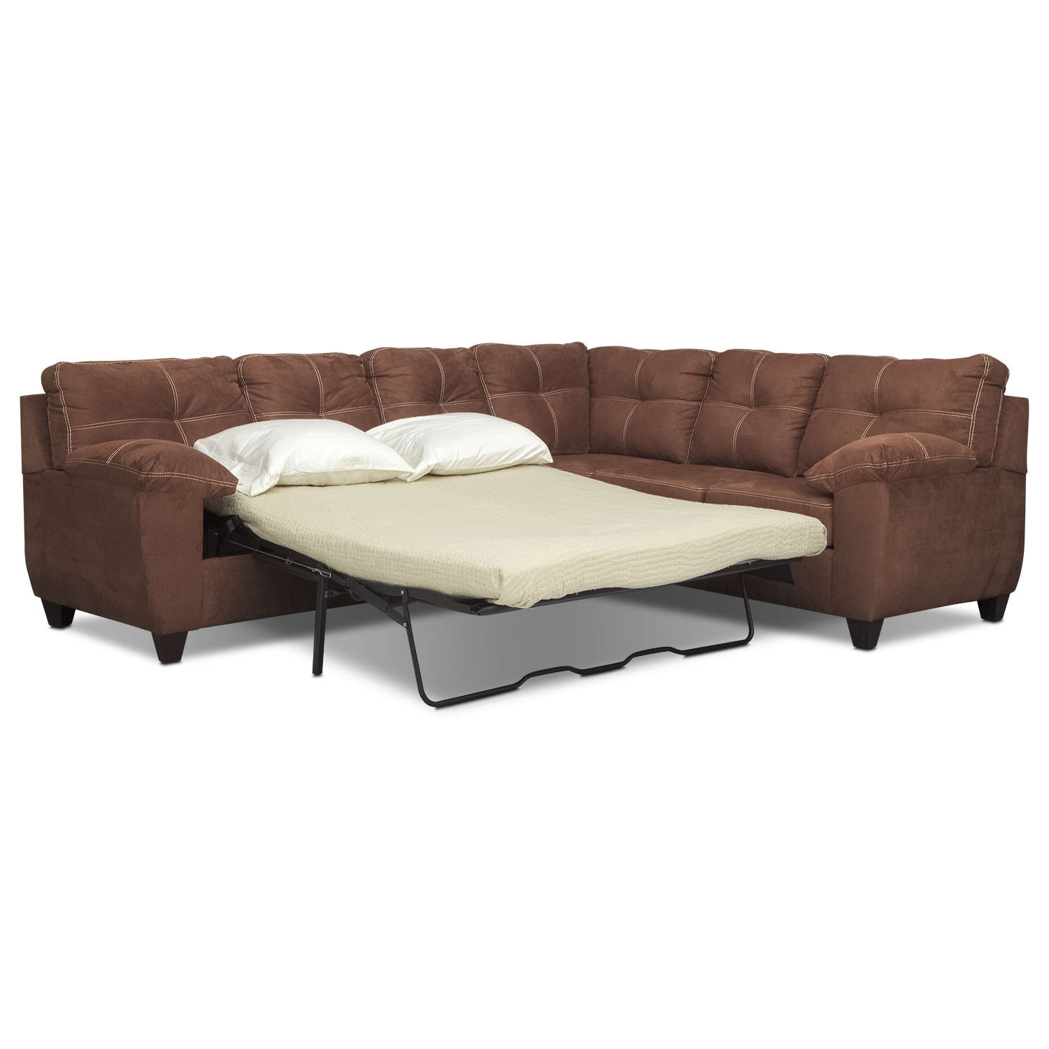 back of sofa facing fireplace loveseat sleeper target ricardo 2 piece innerspring sectional with right