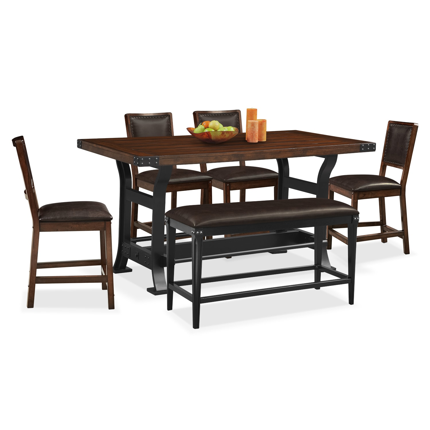Dining Table With Bench And Chairs Newcastle Counter Height Dining Table 4 Side Chairs And