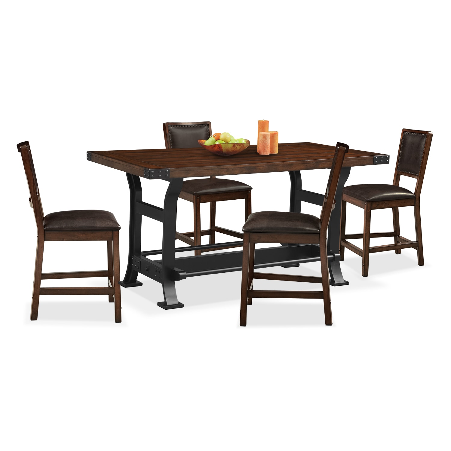Counter Height Dining Room Chairs Newcastle Counter Height Dining Table And 4 Side Chairs