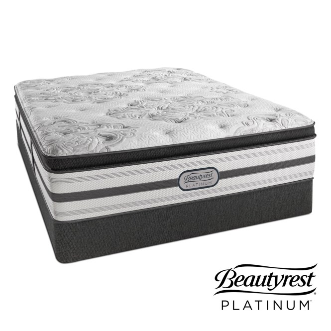 Genevieve Plush Queen Mattress And Foundation Set By Beautyrest Platinum