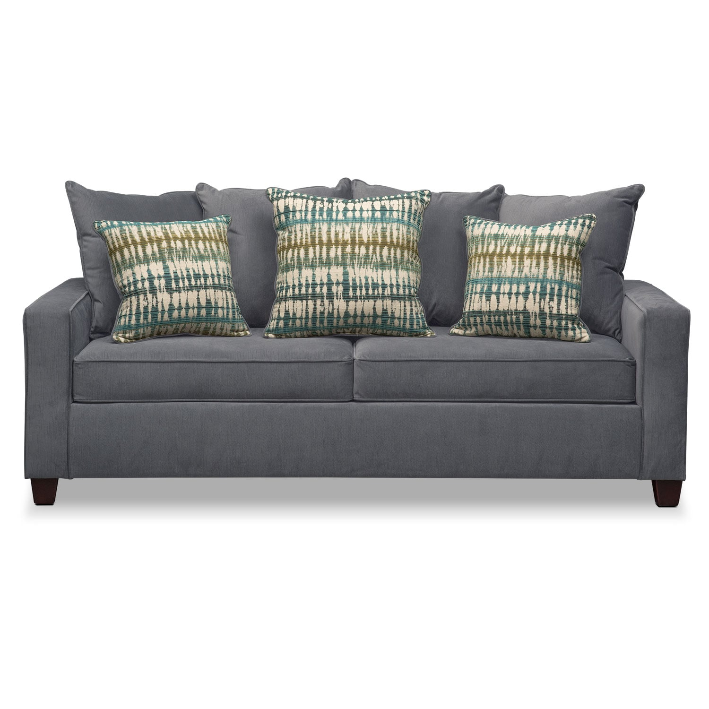 best memory foam sleeper sofas lux sofa bryden queen - slate   american ...