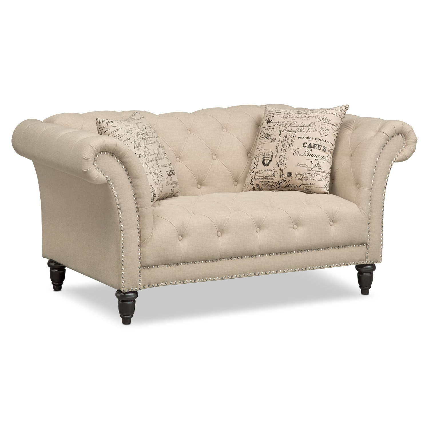 love making chair images pottery barn charleston and a half slipcover marisol loveseat beige american signature furniture
