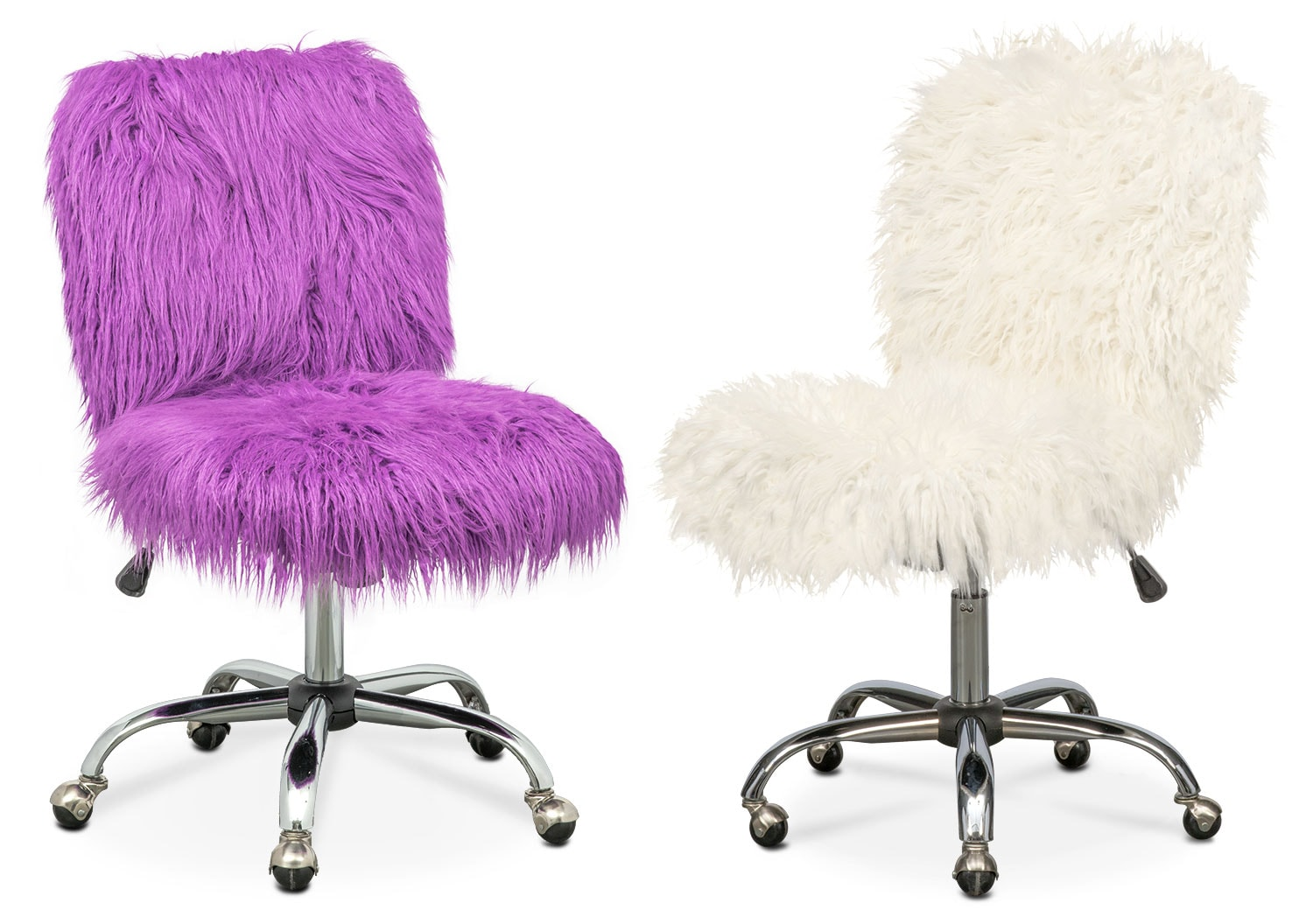 Fur Desk Chair The Frenzy Collection American Signature Furniture