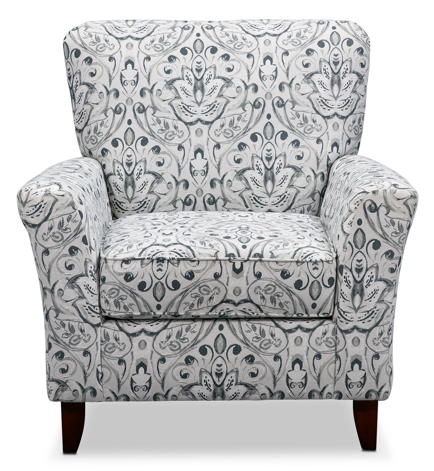 Multi Colored Accent Chairs Mckenna Accent Chair Multi Pewter American Signature