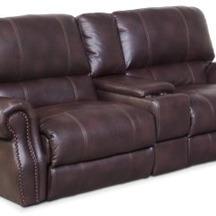 Darrin Leather Sofa Reviews How To Repair A Tear In With Console Catalina 3 Piece Reclining
