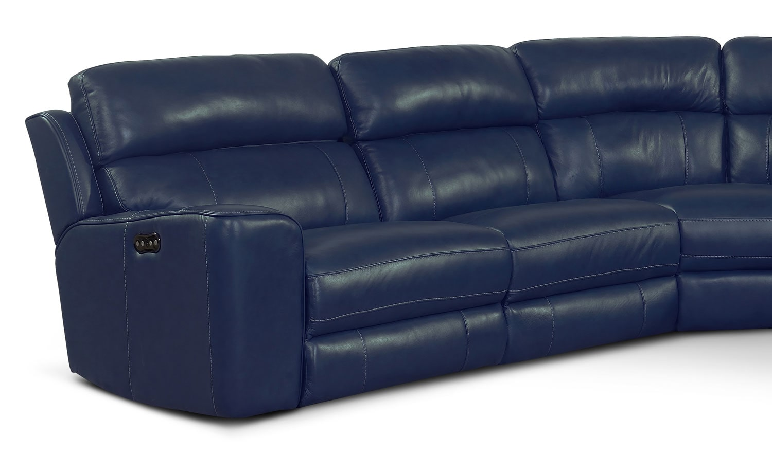 american furniture living room sectionals cheap houston newport 6-piece power reclining sectional with right ...