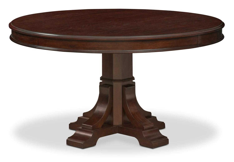 Vienna Round Dining Table Merlot American Signature