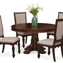 White Round Dining Room Table And Chairs Home Theater Cheap Vienna 4 Upholstered Side