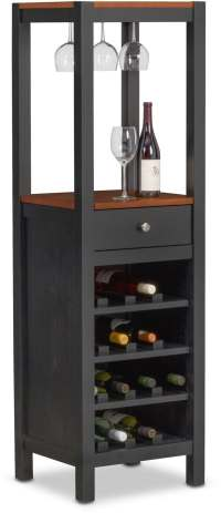 Nantucket Wine Cabinet - Black and Cherry | American ...