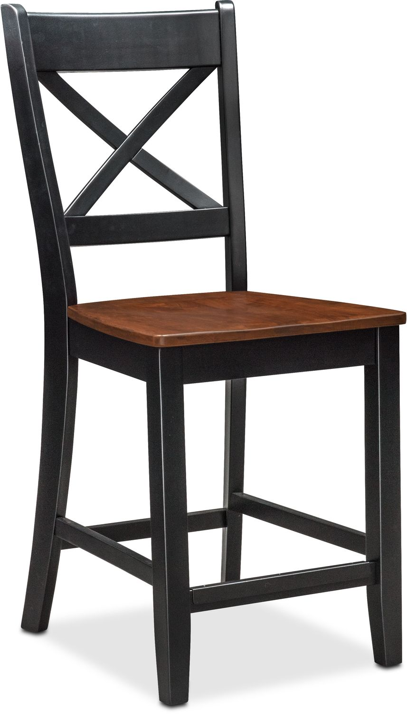 Nantucket CounterHeight Side Chair  Black and Cherry