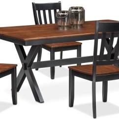 Black Table And Chairs Quality Folding Nantucket Trestle 4 Slat Back
