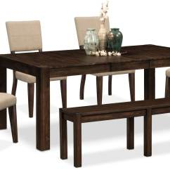 Accent Chairs For Dining Room Table U Shaped Chair Legs Tribeca 4 Upholstered Side And Bench