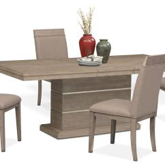 Pedestal Table And Chairs Best Canoe Chair Gavin 4 Side Graystone