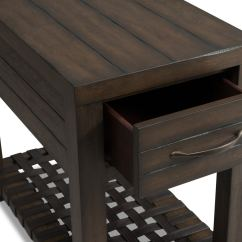 Chair Side Book Stand Office In Store Brewer Chairside Table Dark Oak American Signature