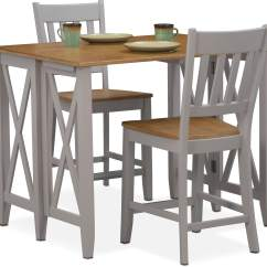 Bar Height Desk Chairs Lunch Room Nantucket Breakfast And 2 Counter Slat Back