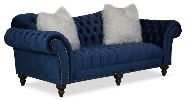 Brittney Sofa Navy American Signature Furniture
