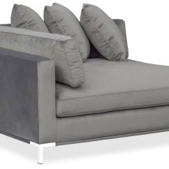 Value City Furniture Marco Chaise Sofa Queen Sleeper Mechanism Gray