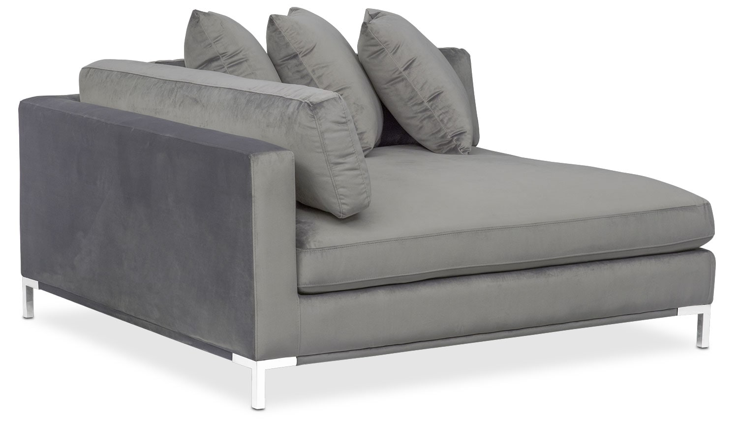 marco gray chaise sofa modern navy blue sectional value city