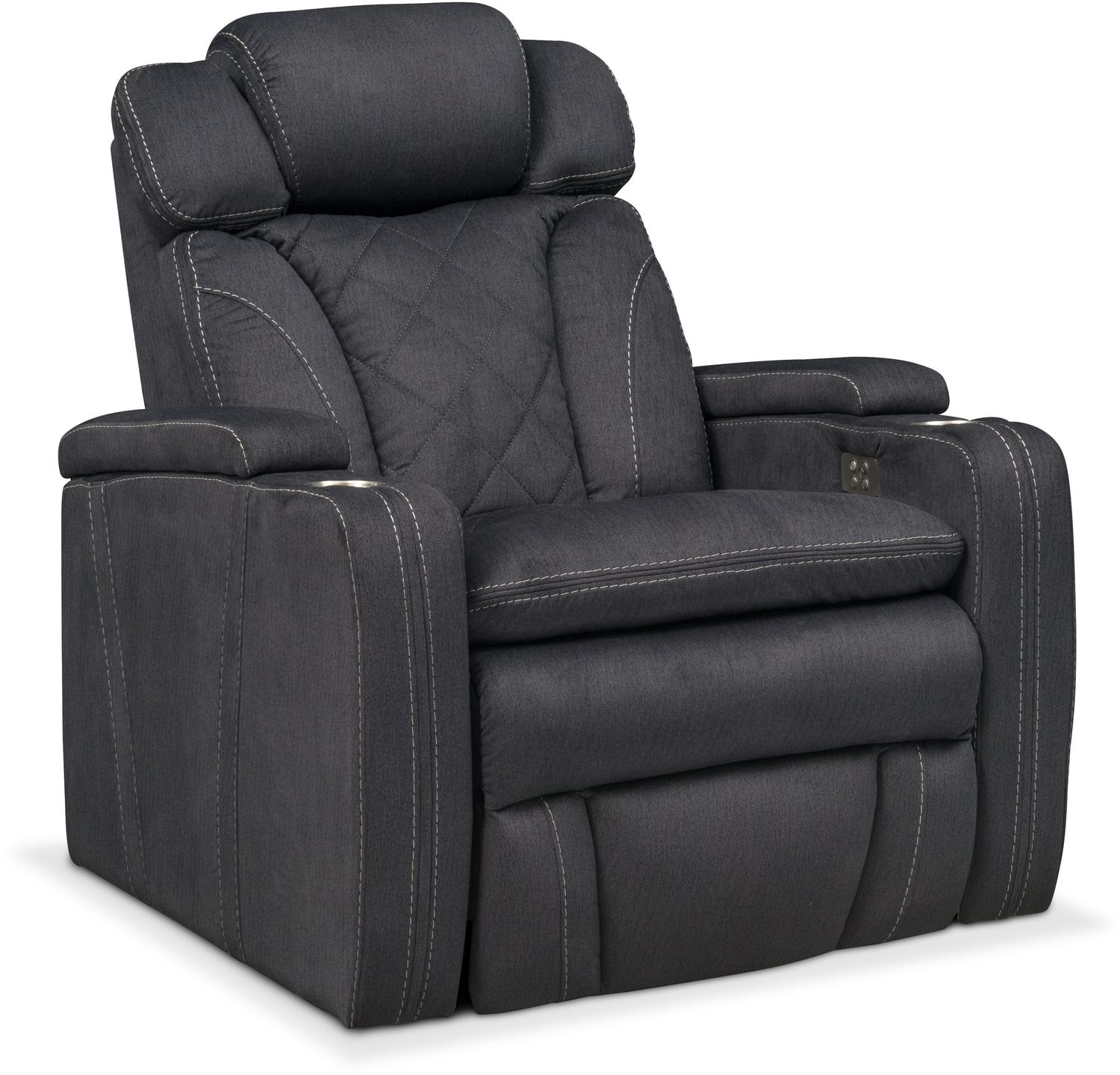 Power Reclining Chairs Fiero Power Recliner Charcoal American Signature Furniture