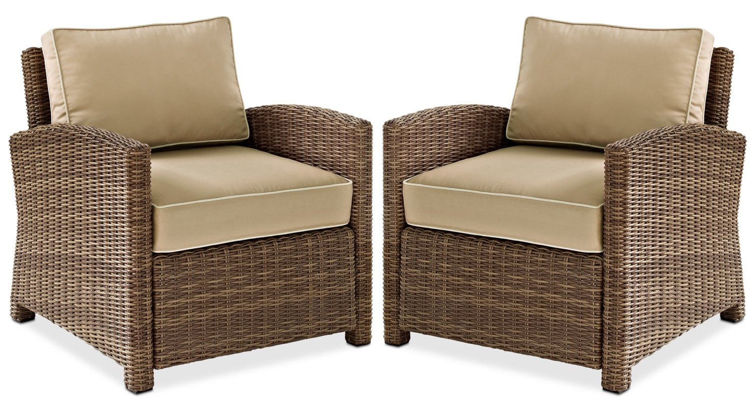 Outdoor Chair Set Destin Set Of 2 Outdoor Chairs