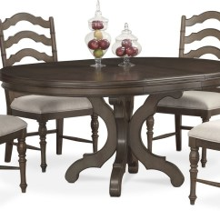 Round Dining Chairs Ergonomic Chair For Gaming Charleston Table And 4 Side Gray