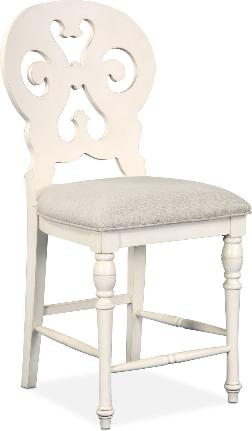 counter height chairs with back kid folding charleston scroll stool white american click to change image