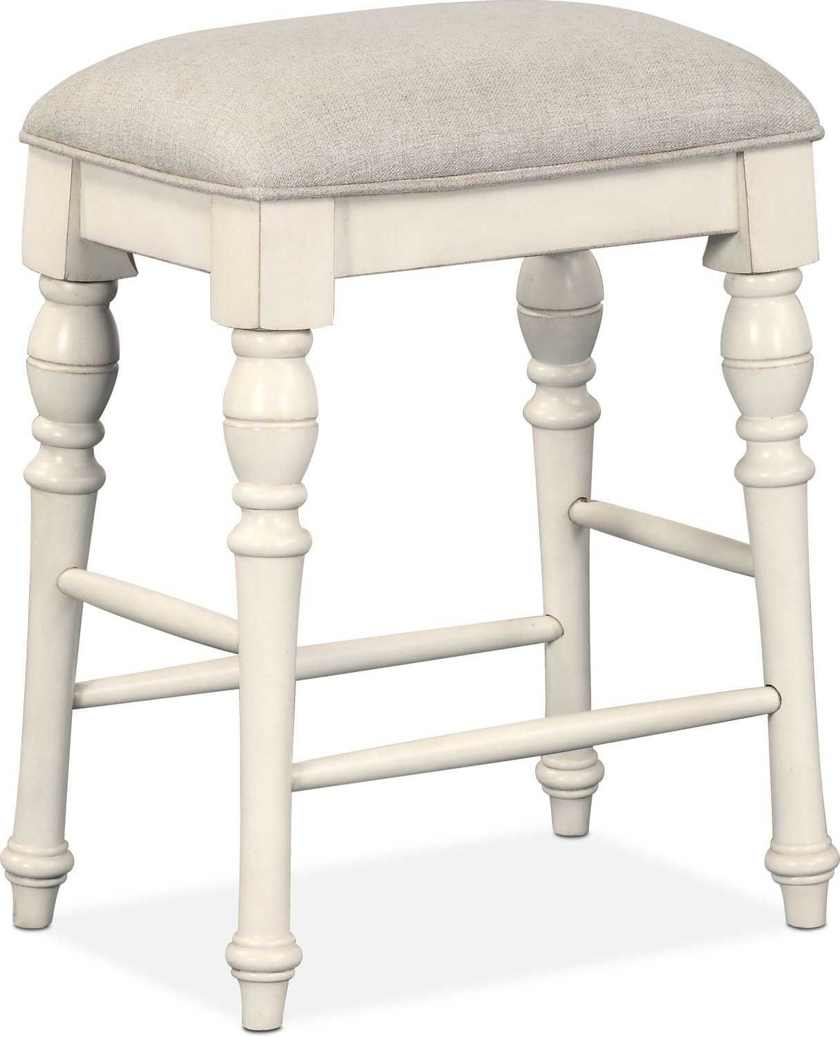 White Counter Height Chairs Charleston Counter Height Backless Stool White