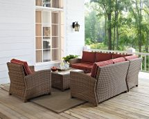 Destin 3-piece Outdoor Sectional Chair And Cocktail Table