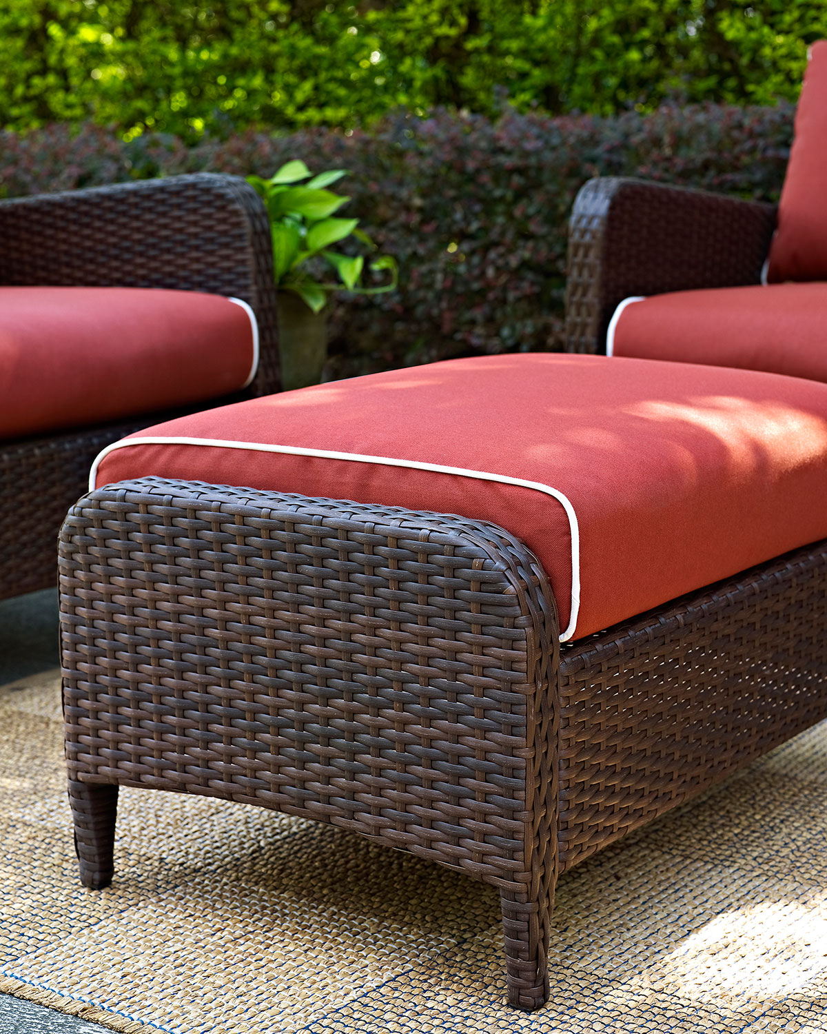 outdoor chair and ottoman pub table chairs ikea corona set sangria american