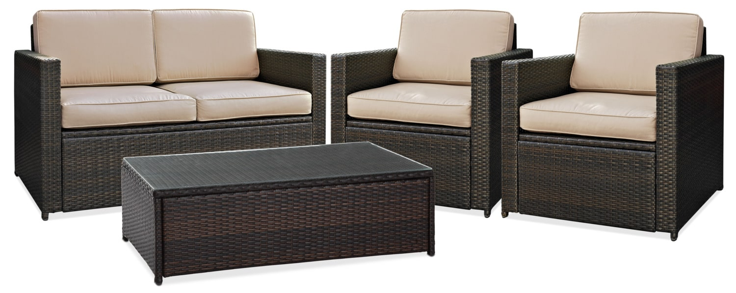 american signature living room sets best affordable rugs aldo outdoor loveseat 2 chairs and cocktail table set brown furniture