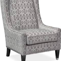 Grey And White Accent Chair Big Oversized Reading Venn Gray American Signature Furniture
