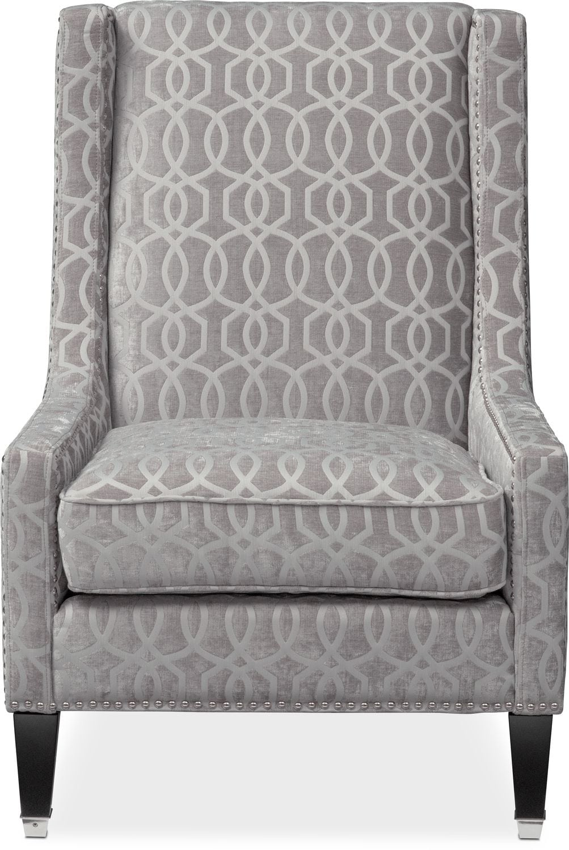 Venn Accent Chair  Gray  American Signature Furniture