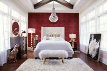 Mandarin King Upholstered Bed - Ivory American Signature
