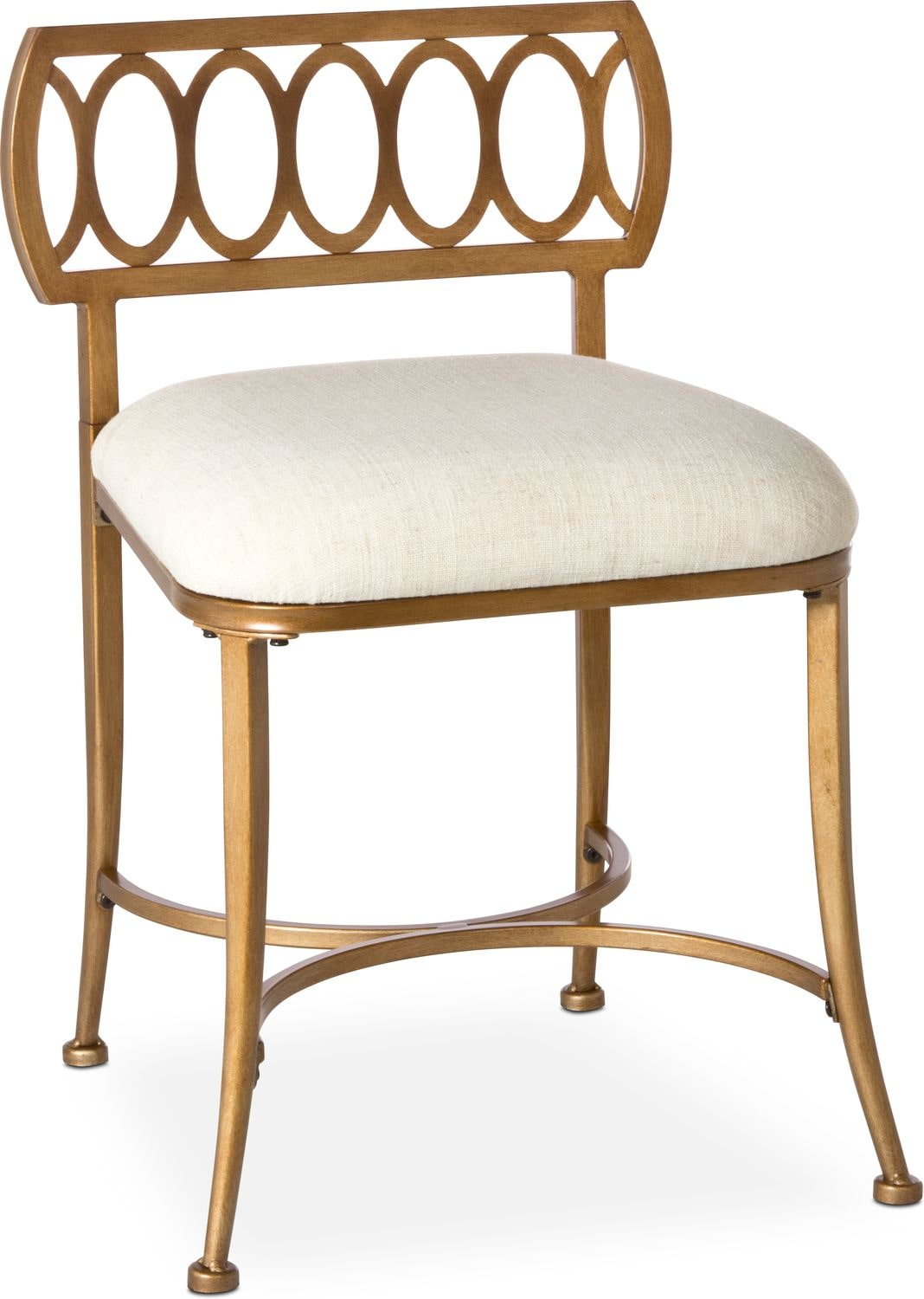 Gold Vanity Chair Jefferson Vanity Stool Gold American Signature Furniture