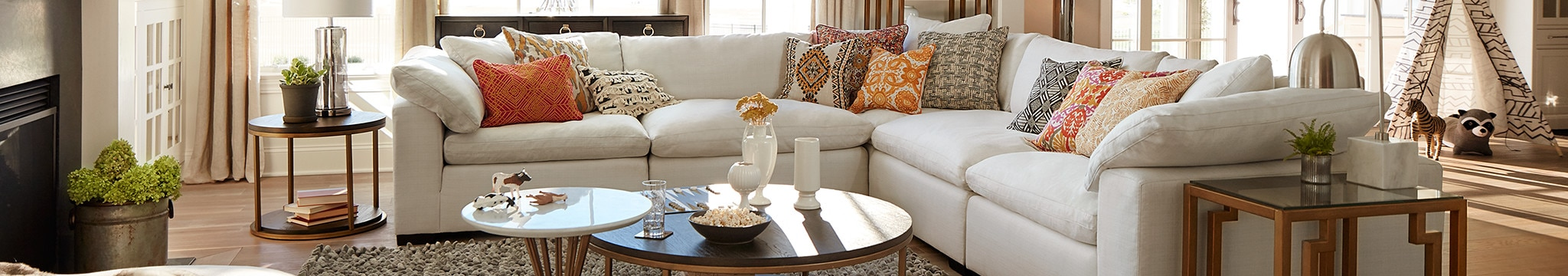tables in living room small contemporary decorating ideas end value city