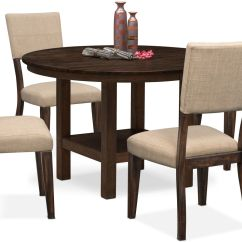 Accent Chairs For Dining Room Table Comfortable Computer Chair Tribeca Round And 4 Upholstered Side