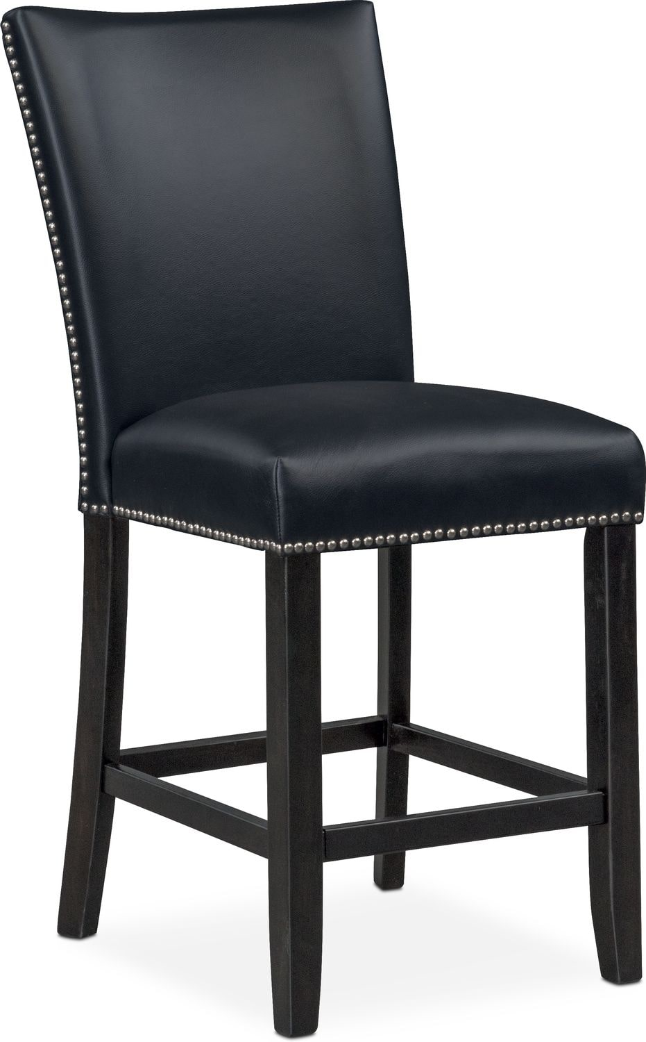 counter height chair chairman artemis upholstered stool black american