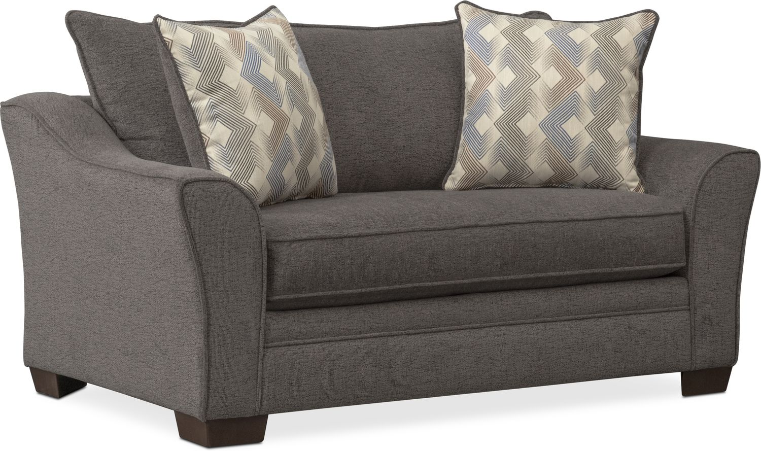 gray chair and a half leather seat covers trevor twin memory foam sleeper