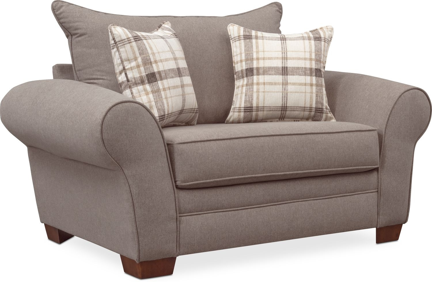 gray chair and a half oversized leather ottoman sets rowan american signature furniture